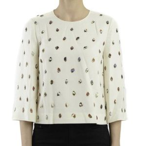 Tory Burch crepe embellished top